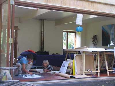 Muriwai Earthskin artists at work
